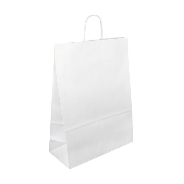 Papírová taška bílá 32x14x42 kroucené ucho Toptwist