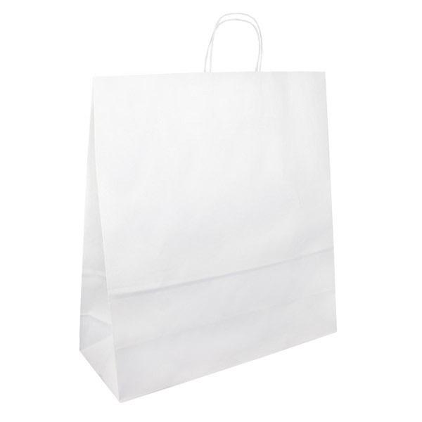 Papírová taška bílá 40x16x45 kroucené ucho Toptwist