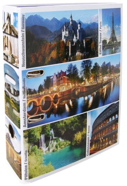 Designový pákový pořadač A4 7cm karton motiv Evropa