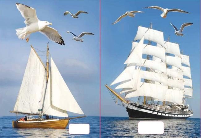 sešit 544 s 3D motivem,  A5, 40 listů,linkovaný, motiv lodě