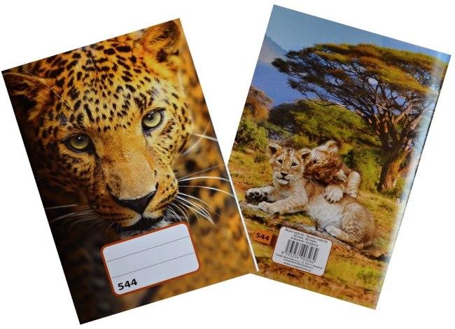 sešit 544, A5, 40 listů, linkovaný 8 mm, motiv leopard