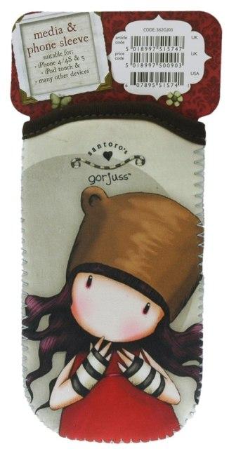 Neoprenový obal na telefon Santoro - Purrrrrfect Love, 7 x 12.7  x 0.2cm