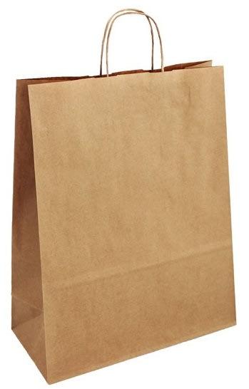 Papírová taška hnědá 32x14x42 kroucené ucho Toptwist