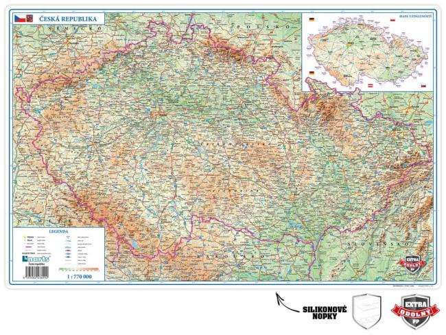 Stolní podložka PP - mapa ČR 60 x 39cm