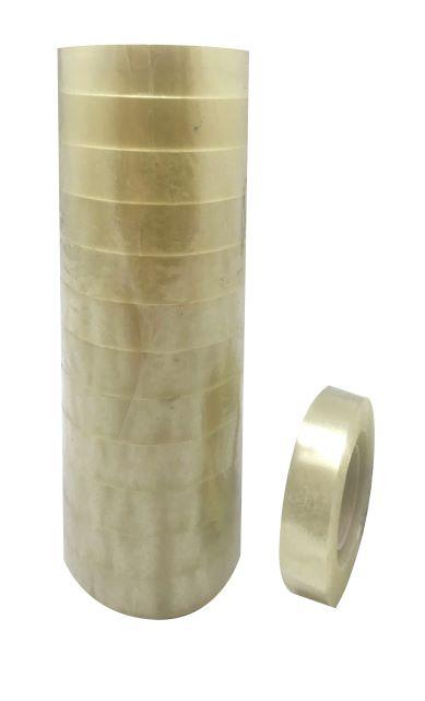 Kanc.lepící pásky TRANSPARENT 12 x 33 -komínky 12 ks