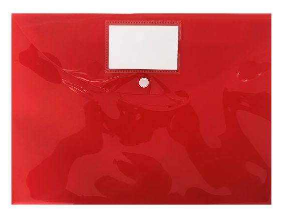 Spisové desky s drukem A4 (325 x 240) 10ks-červená