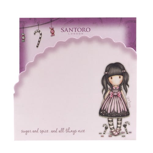 Sada Memo Pad Santoro London - Sugar And Spice