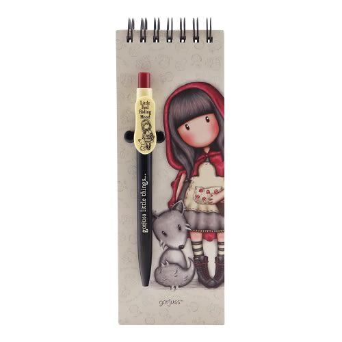 Poznámkový bloček s perem Santoro London - Little Red Riding Hood