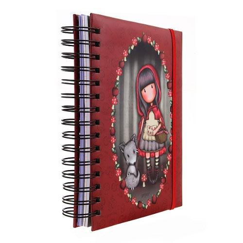 Kroužkový zápisník Santoro London - Little Red Riding Hood, 21 x 18 x 3 cm