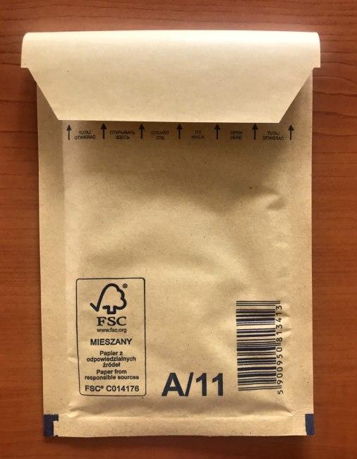 bublinková obálka hnědá 11A (120x175+50mm)