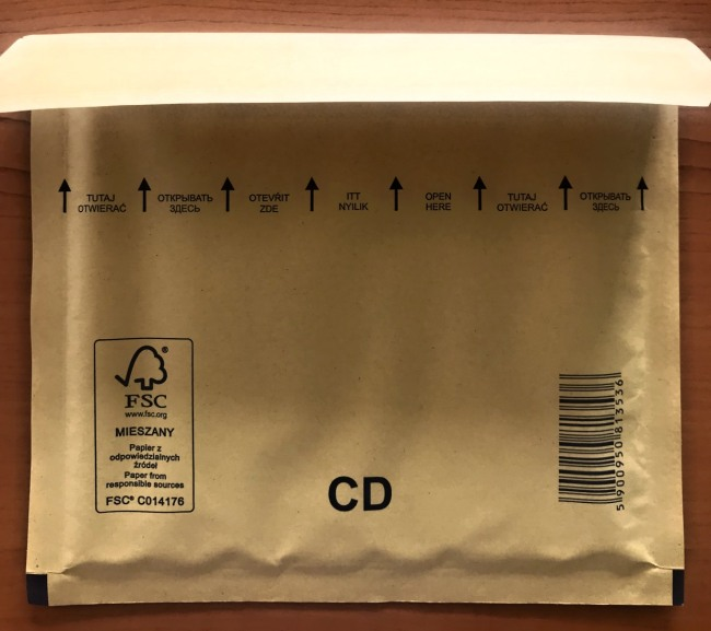 bublinková obálka hnědá CD 200x175+50mm